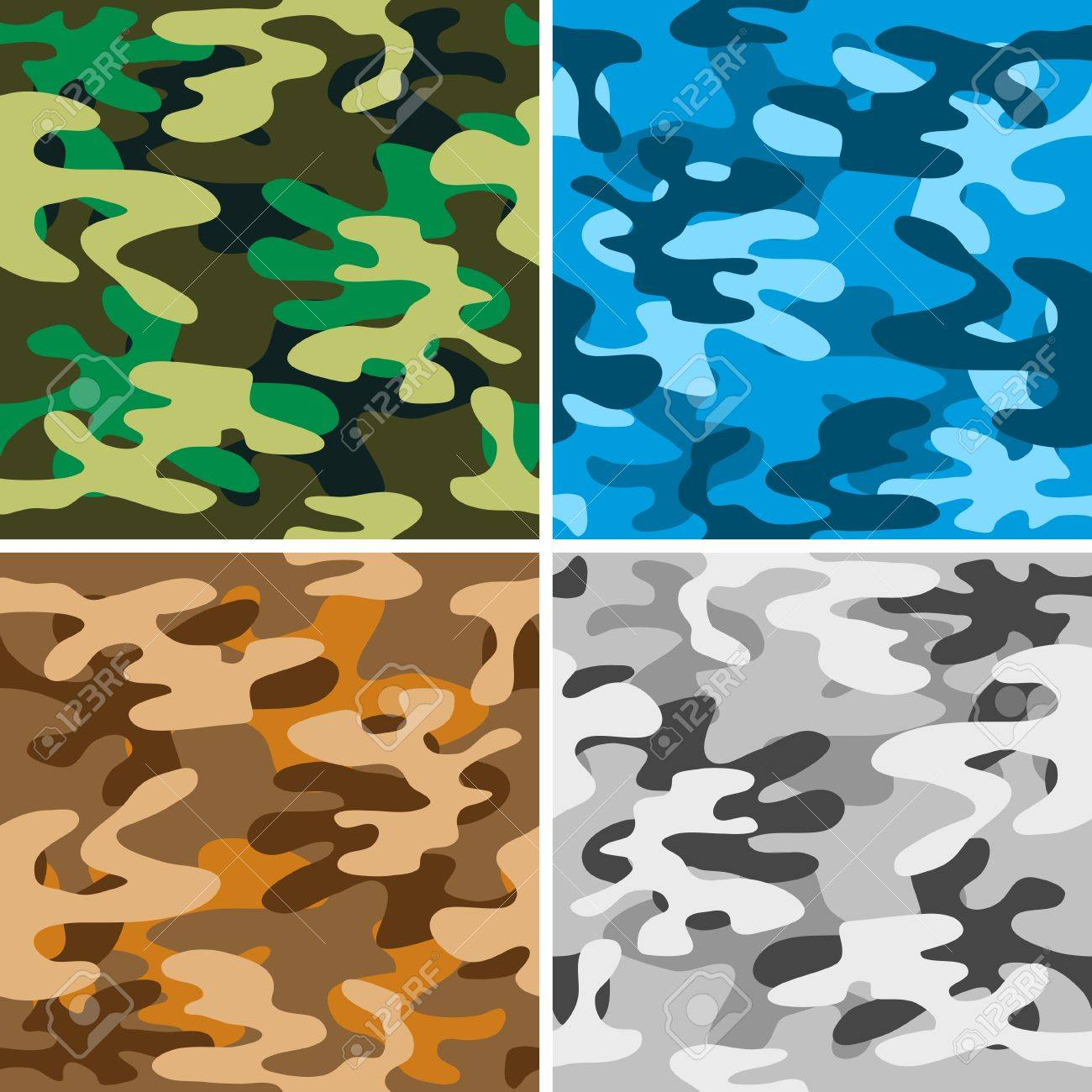 Camouflage backgrounds(42).jpg Stock Vector - 11104501
