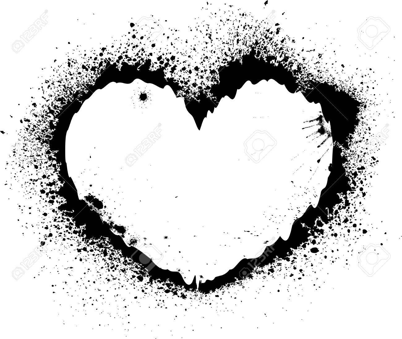 Splash heart Stock Vector - 13188159