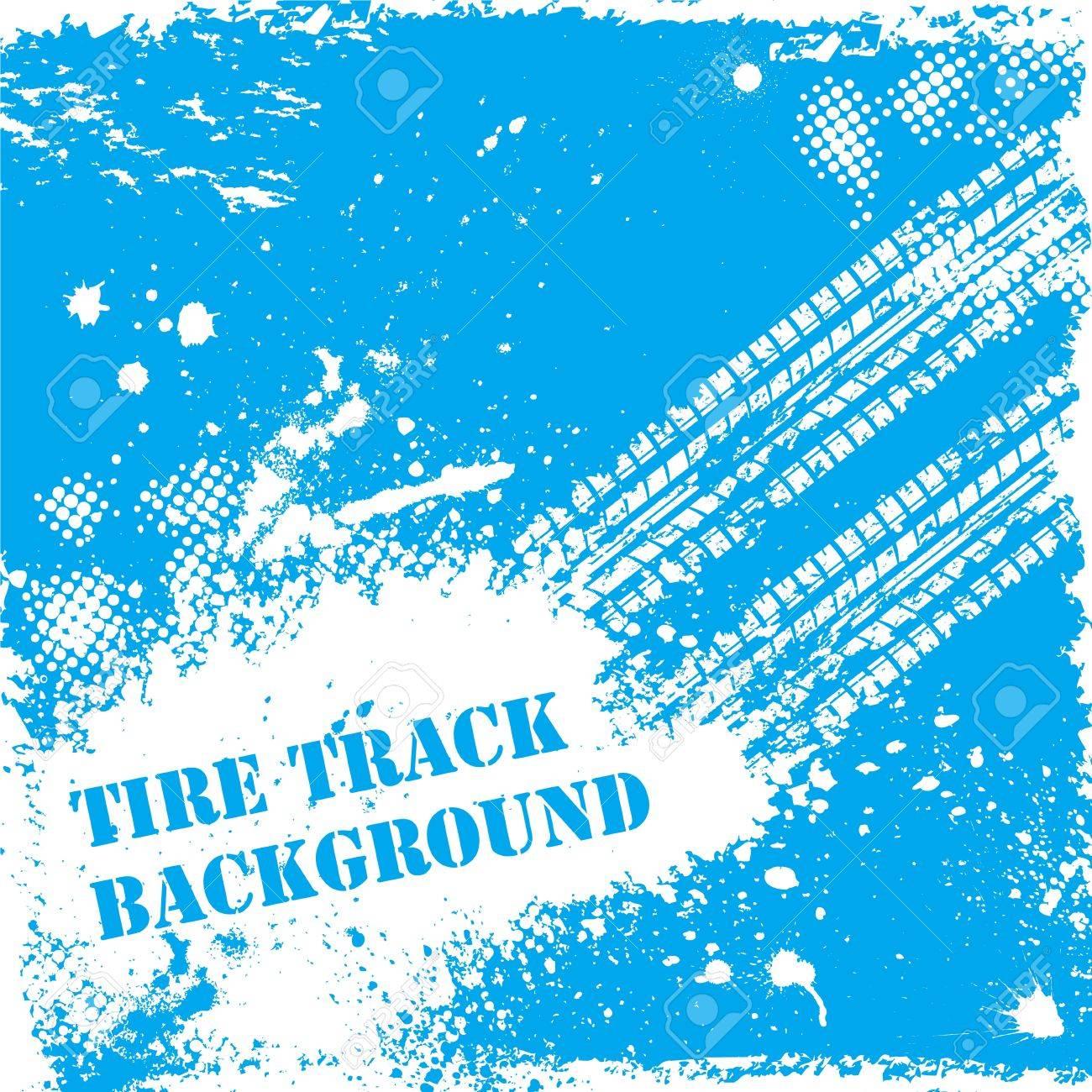 Blue tire track backgound Stock Vector - 15291737