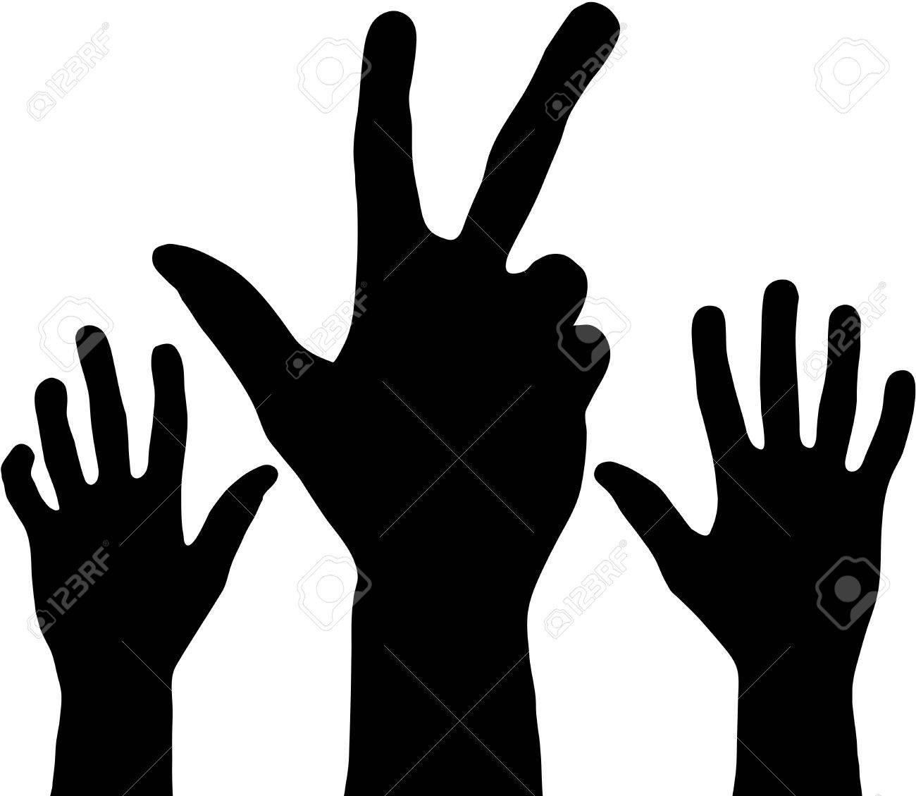 Black hands Stock Vector - 16594882