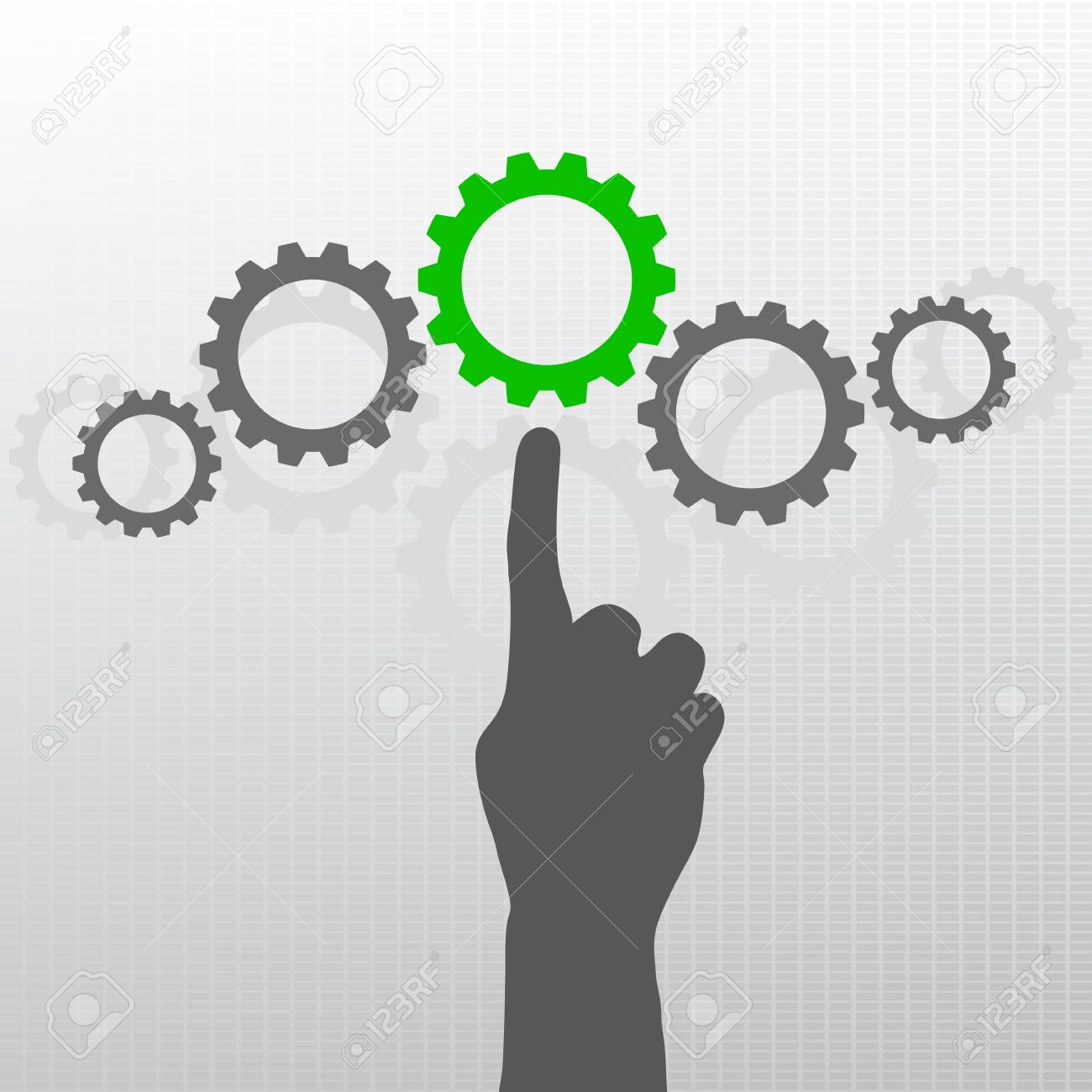 Hand with gears Stock Vector - 16945108