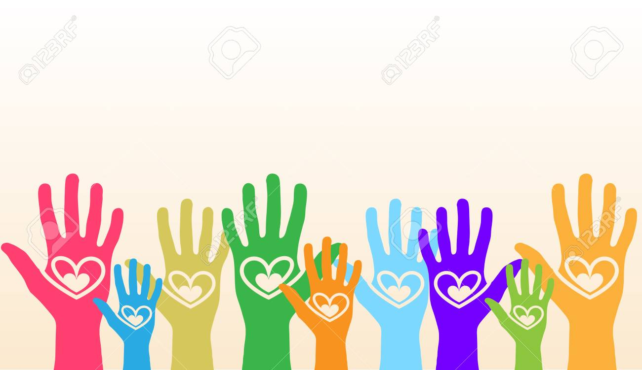Colorful hands Stock Vector - 16972026