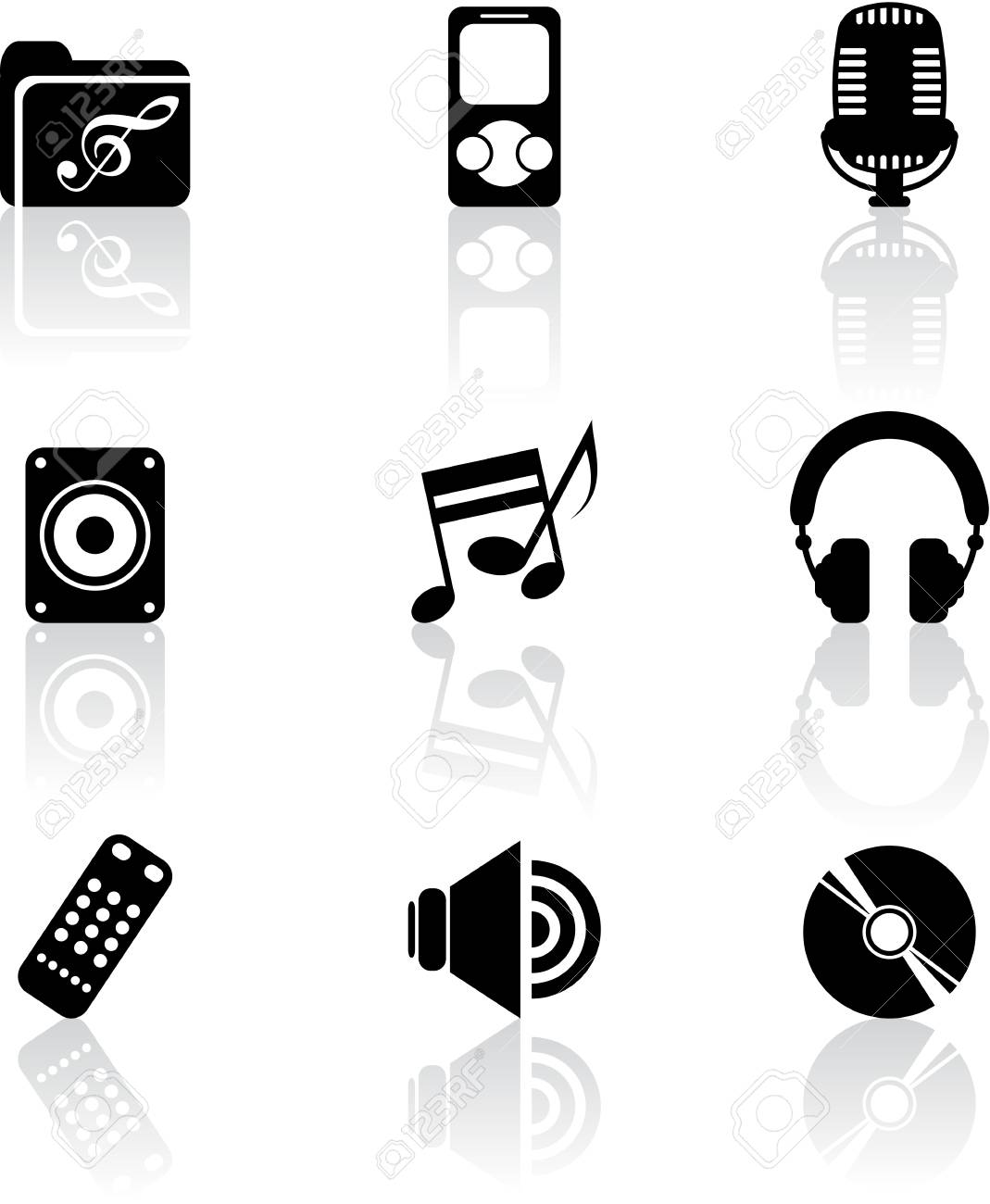 Music icons Stock Vector - 18550978