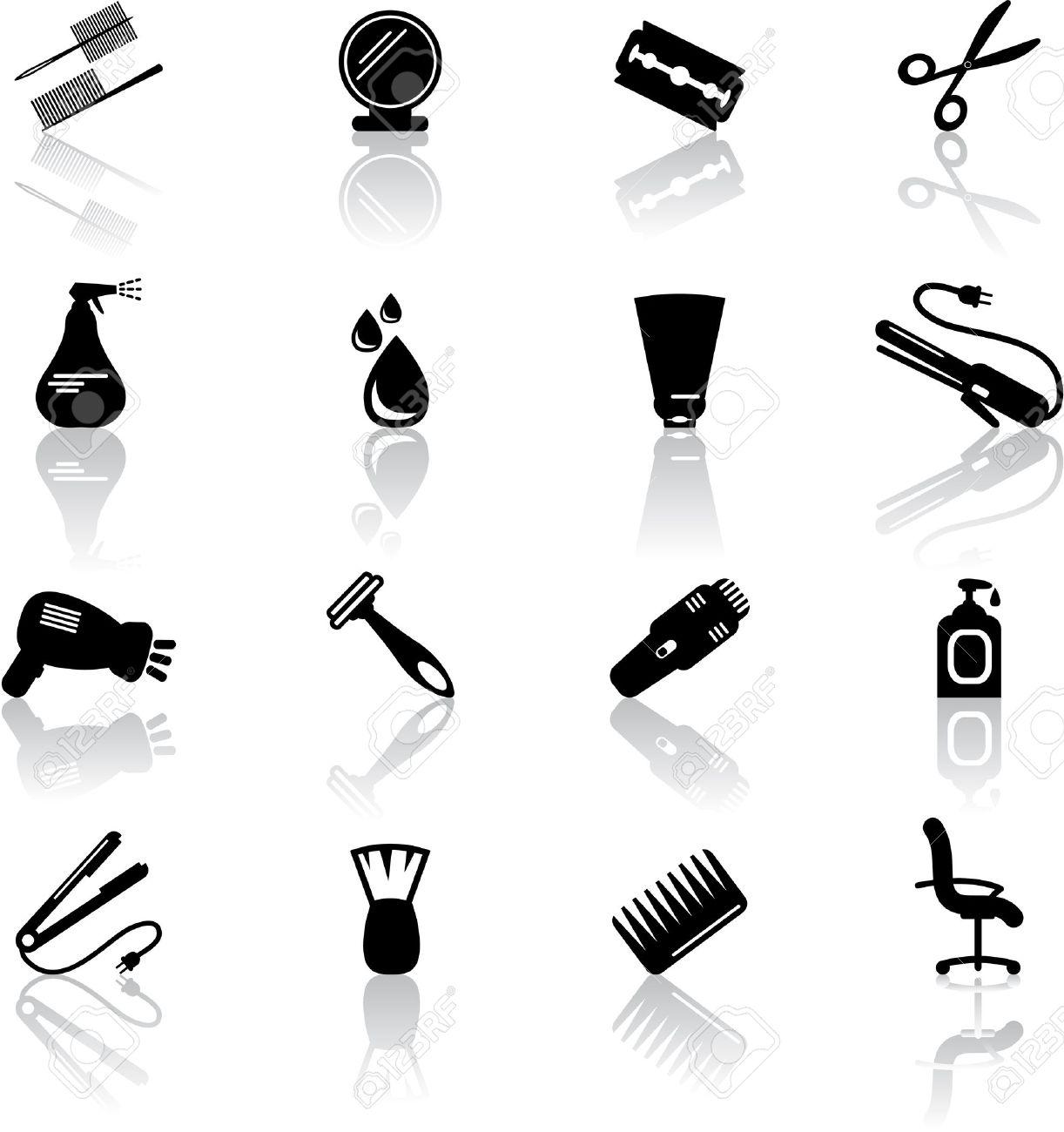 Hair salon icons - 18655299
