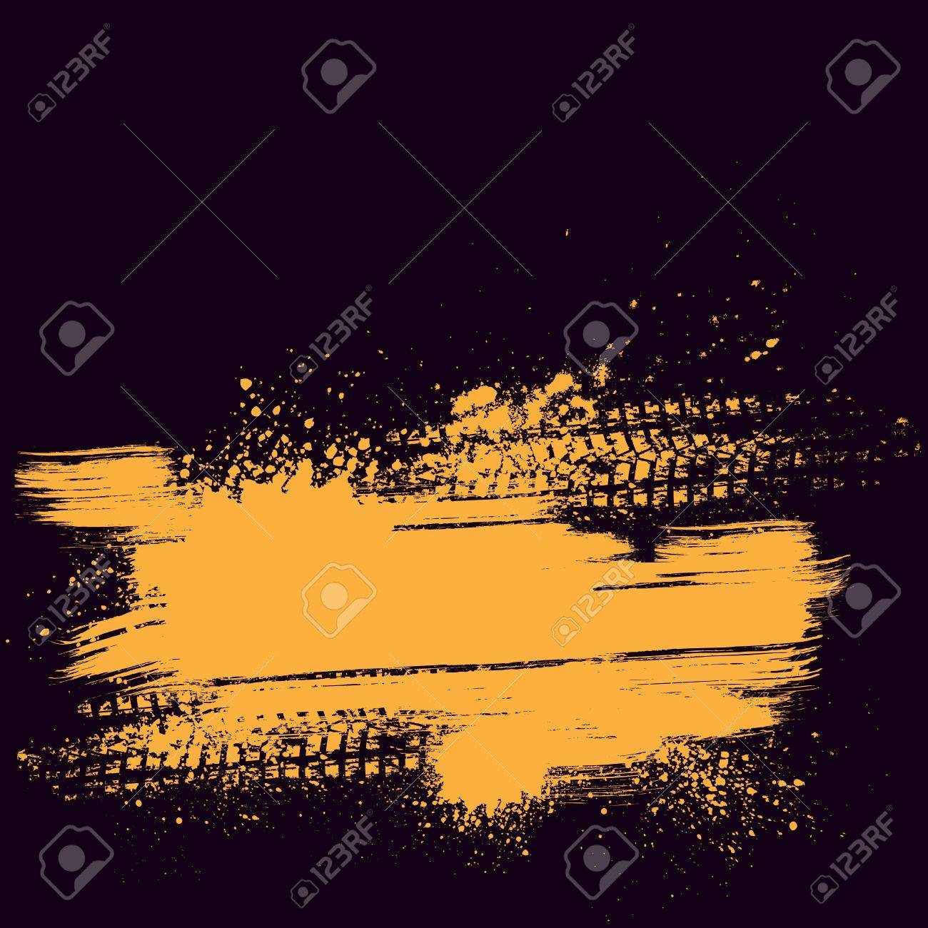 Orange tire track background  Race Track Wallpaper Vector
