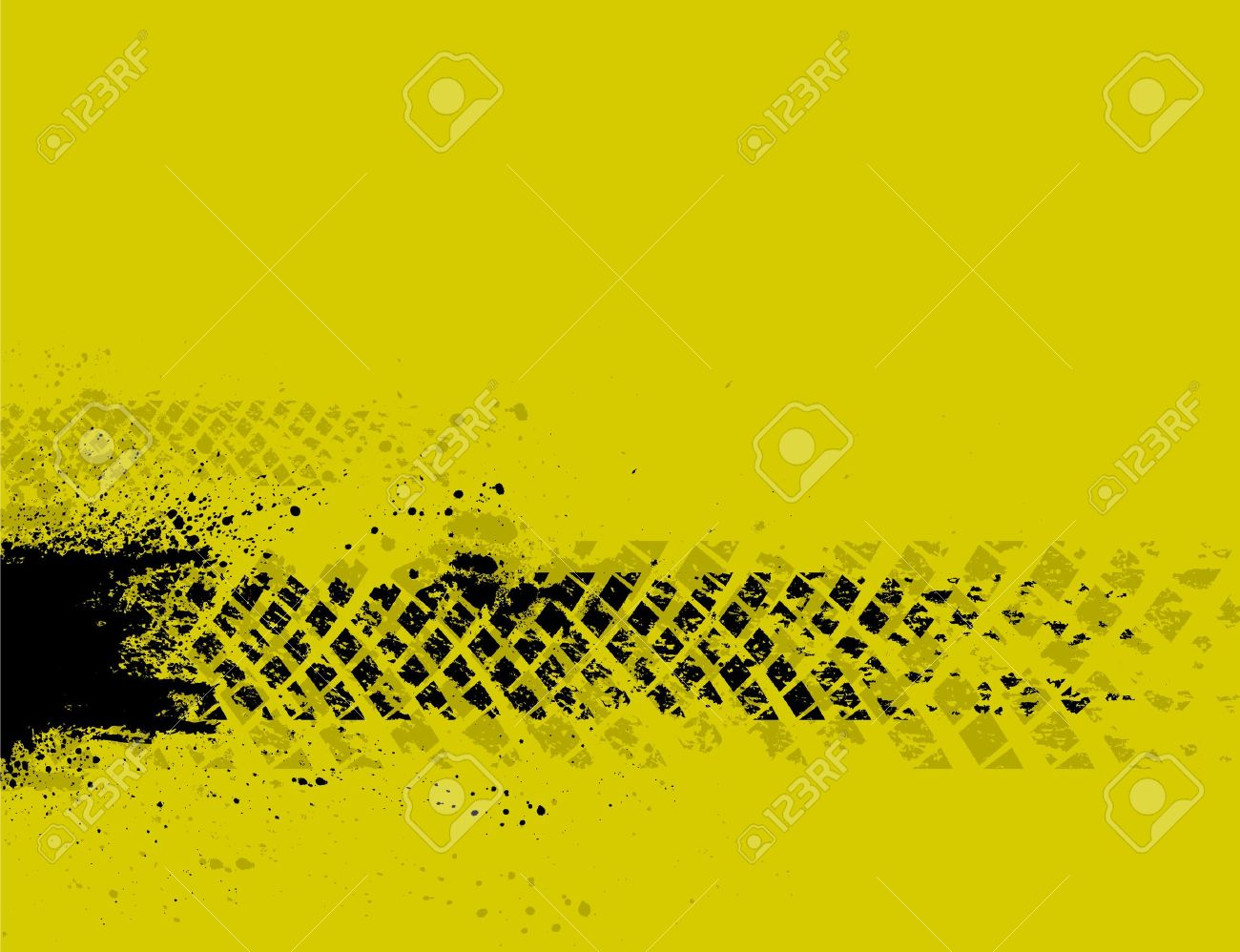 Yellow tire track background - 18655280