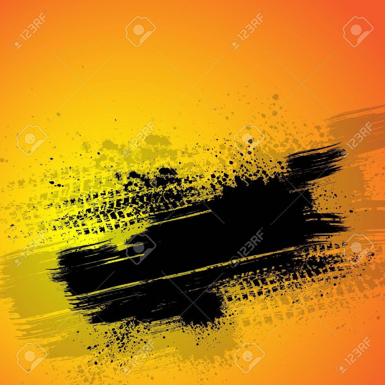 Orange tire track background - 19079807