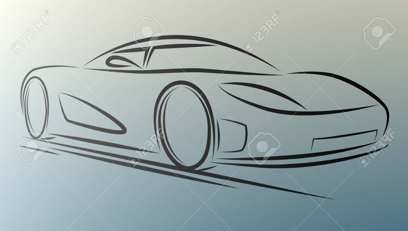 Abstract  sportcar lines on white background. eps10 Stock Vector - 22200744