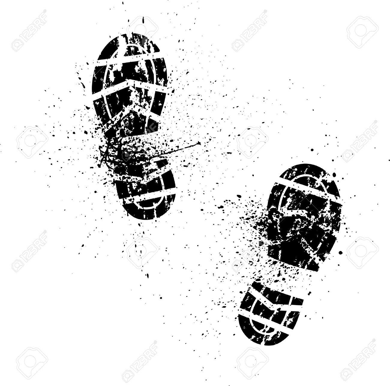Splash shoe print - 34330413
