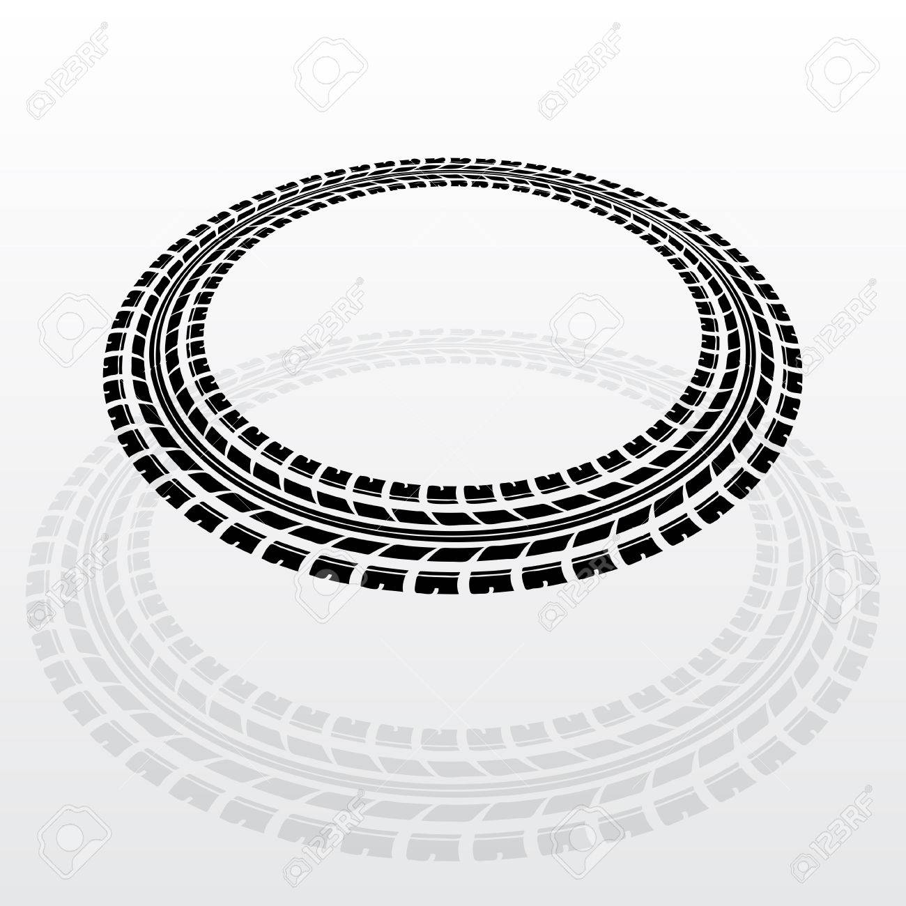 Black tire track silhouette in circle form royalty free cliparts black tire track silhouette in circle form stock vector 54060595 falaconquin