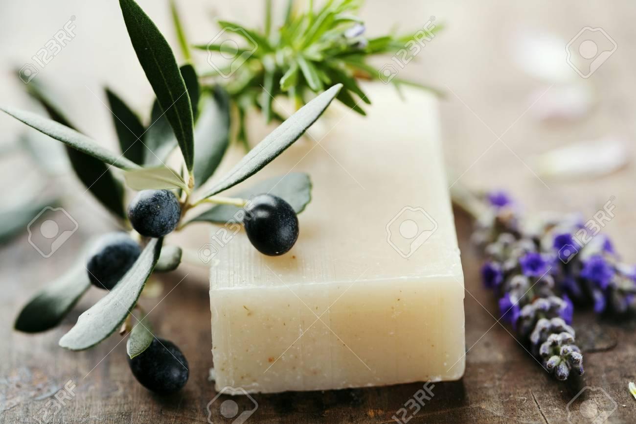closeup of natural hebal soap Stock Photo - 10531214