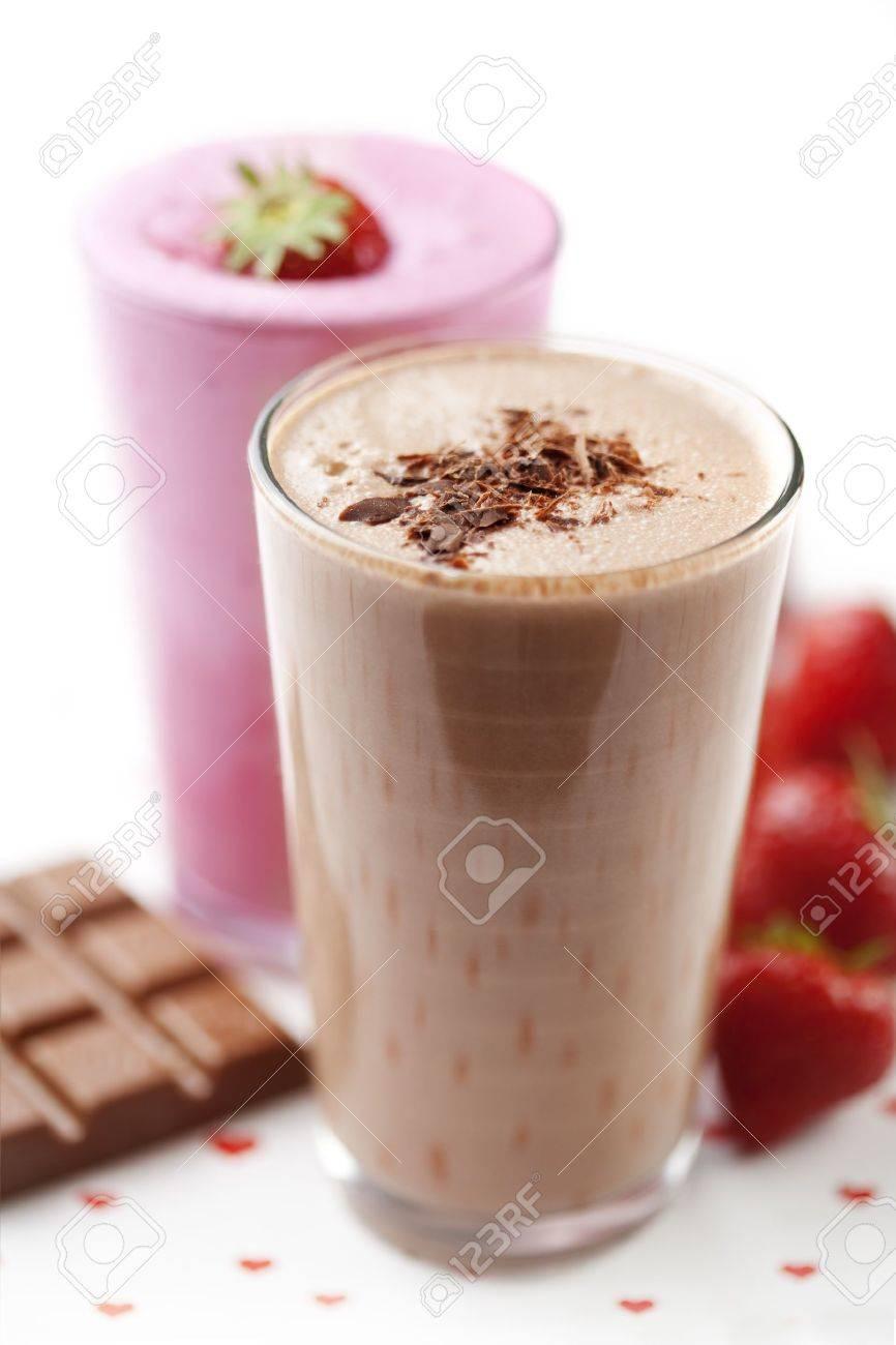 strawberry and chocolate milk shake Stock Photo - 10714717