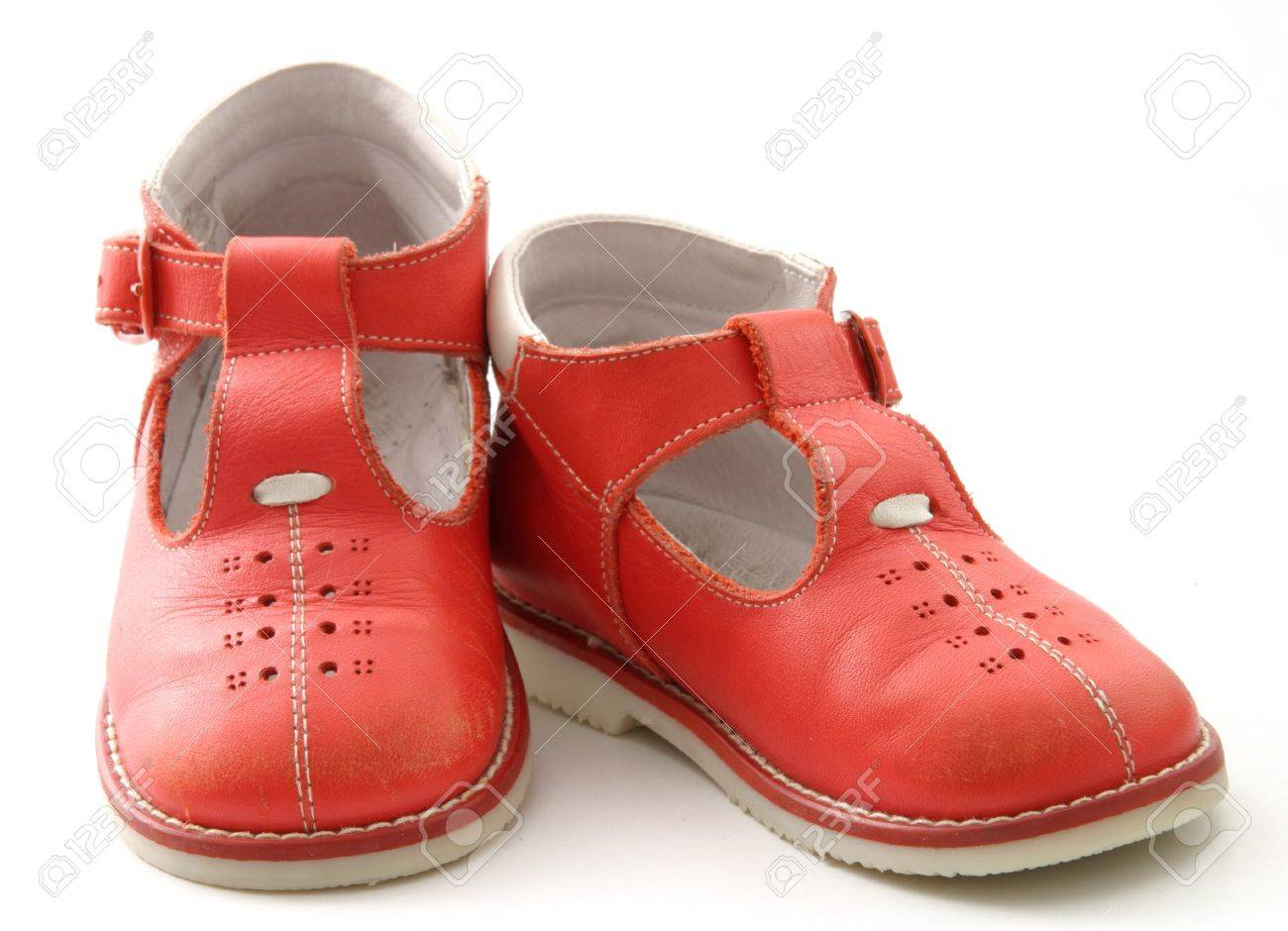 red baby shoes Stock Photo - 11095083