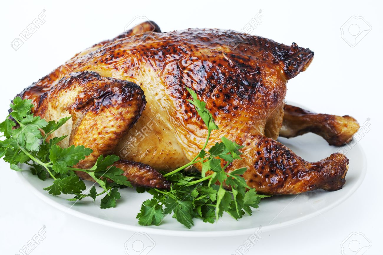 whole roasted chicken Stock Photo - 12615449