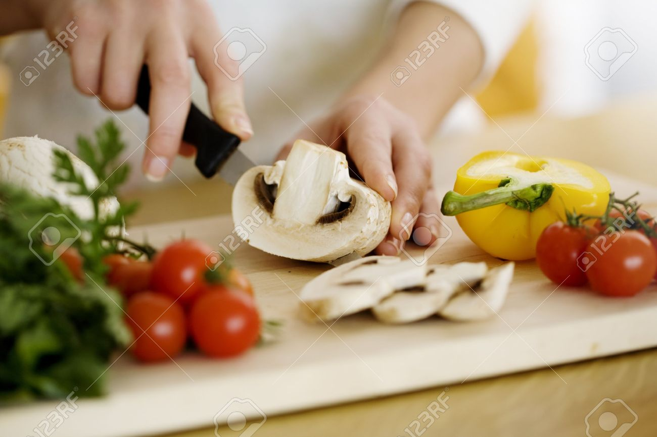 female hands preparing ingredients for cooking Stock Photo - 12614474