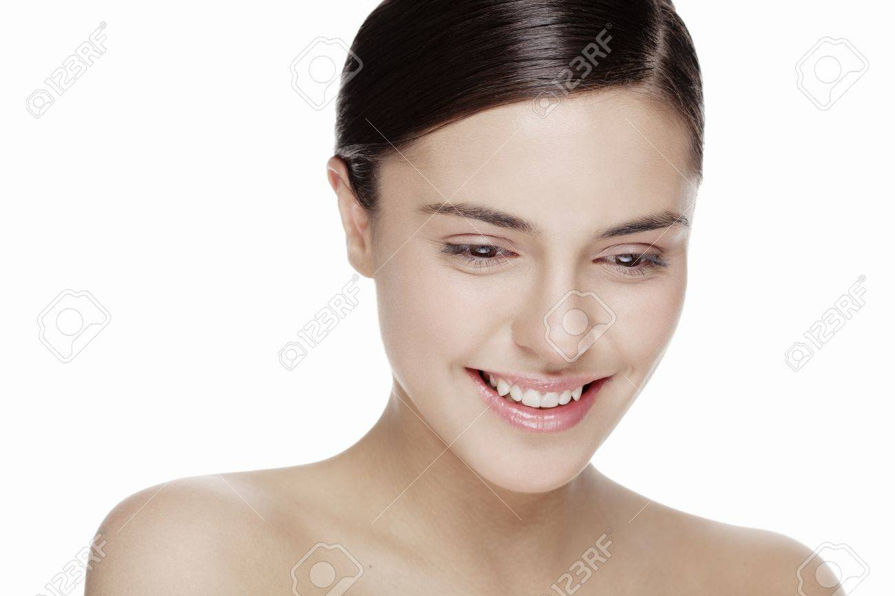 fresh face with natural makeup, no filters used on the skin Stock Photo - 13792245
