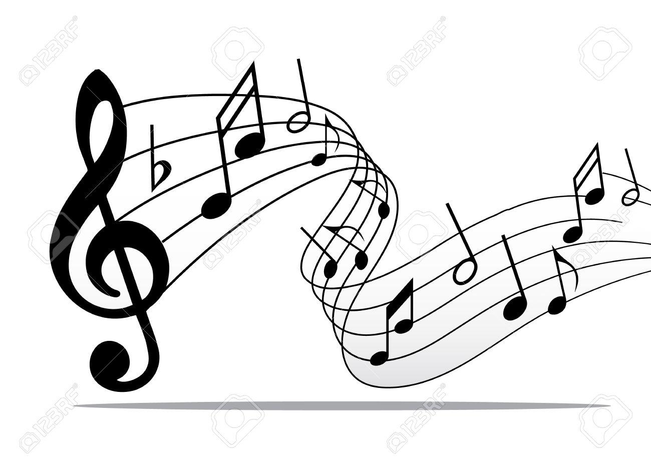Líneas De Pentagrama Notas Musicales Clásicos Elementos