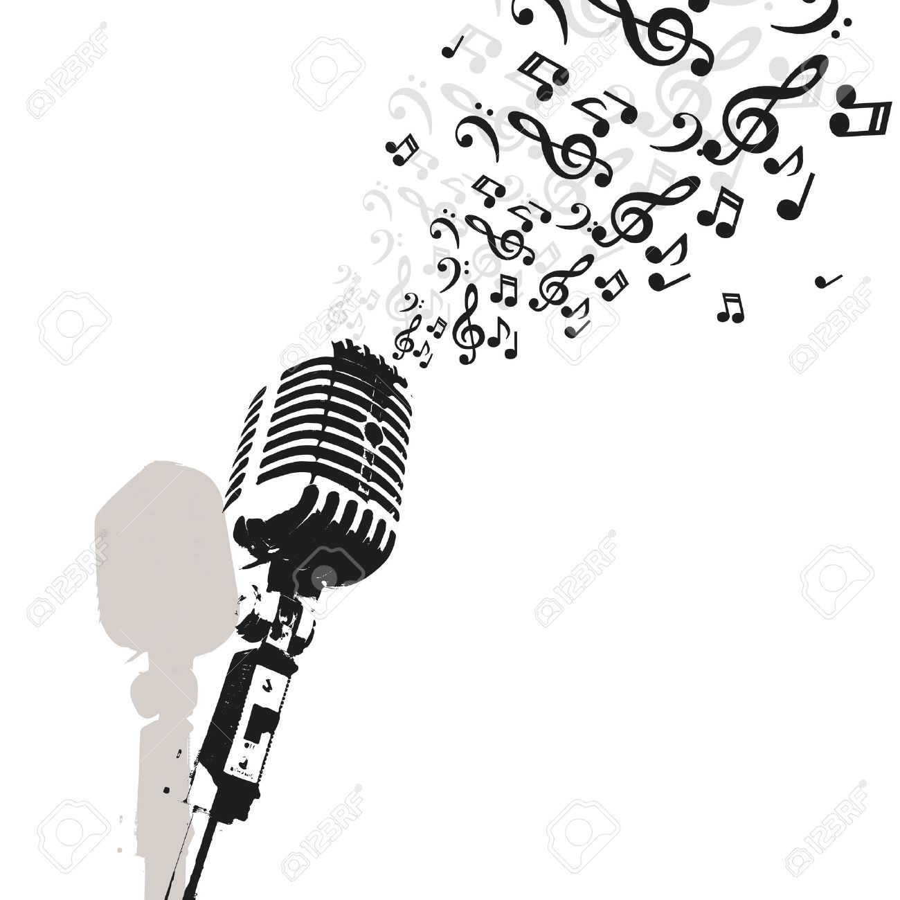 retro microphone music vector jazz radio or concert royalty free rh 123rf com free music vector download free vector music party