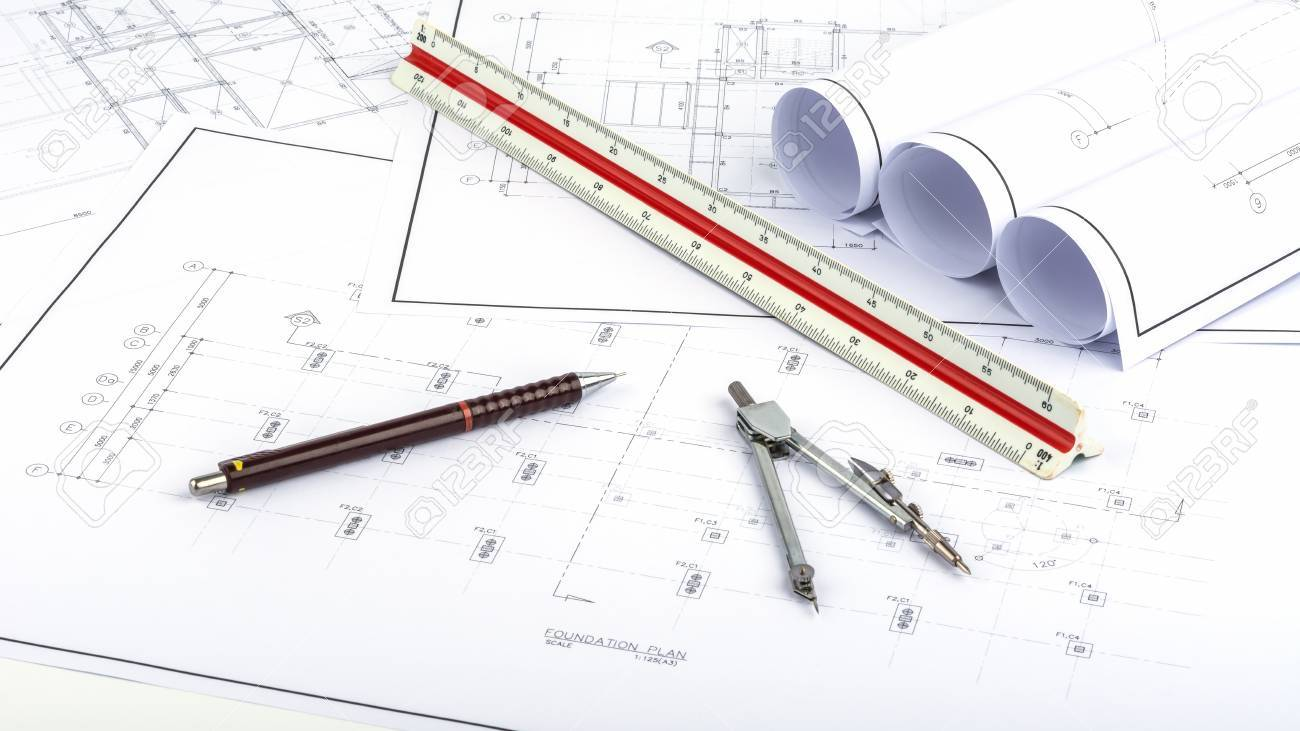 Drawing on the background and structure plans. - 47712090