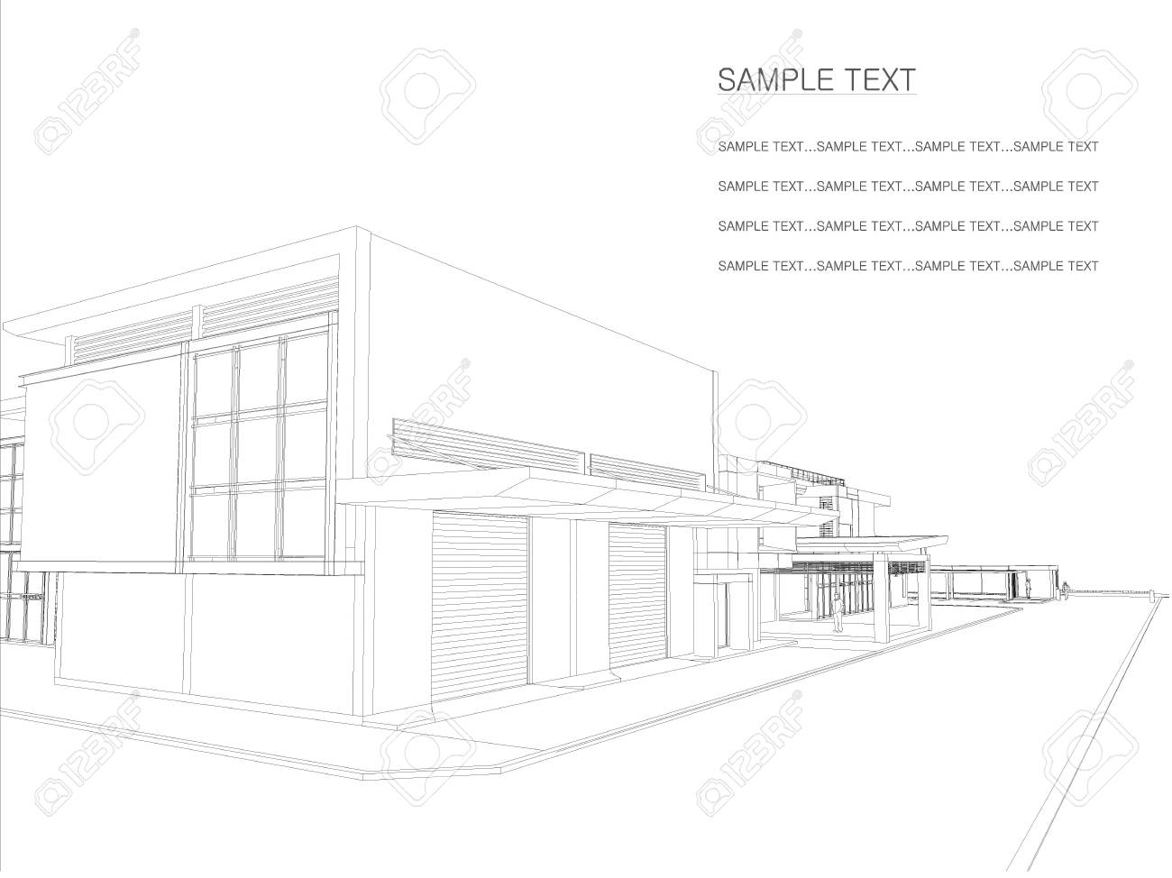 Sketch drawing of building architecture stock photo picture and sketch drawing of building architecture stock photo 53627975 ccuart Gallery