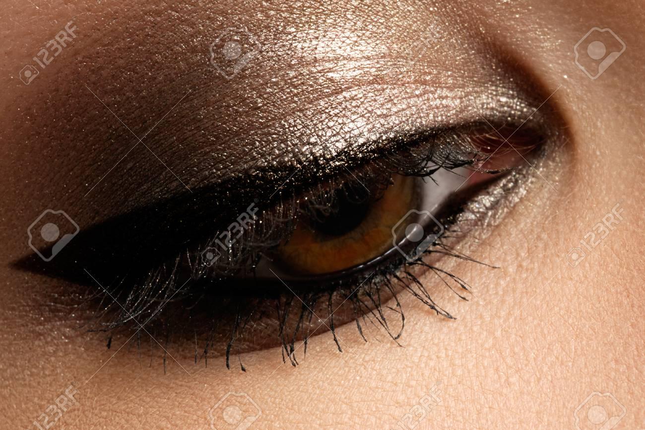 Braune Augen Make Up Augen Make Up Weinleseart Der Schönen Augen