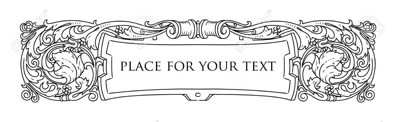 Vector Frame, Elegant Vignette, Design Elements And Page ...