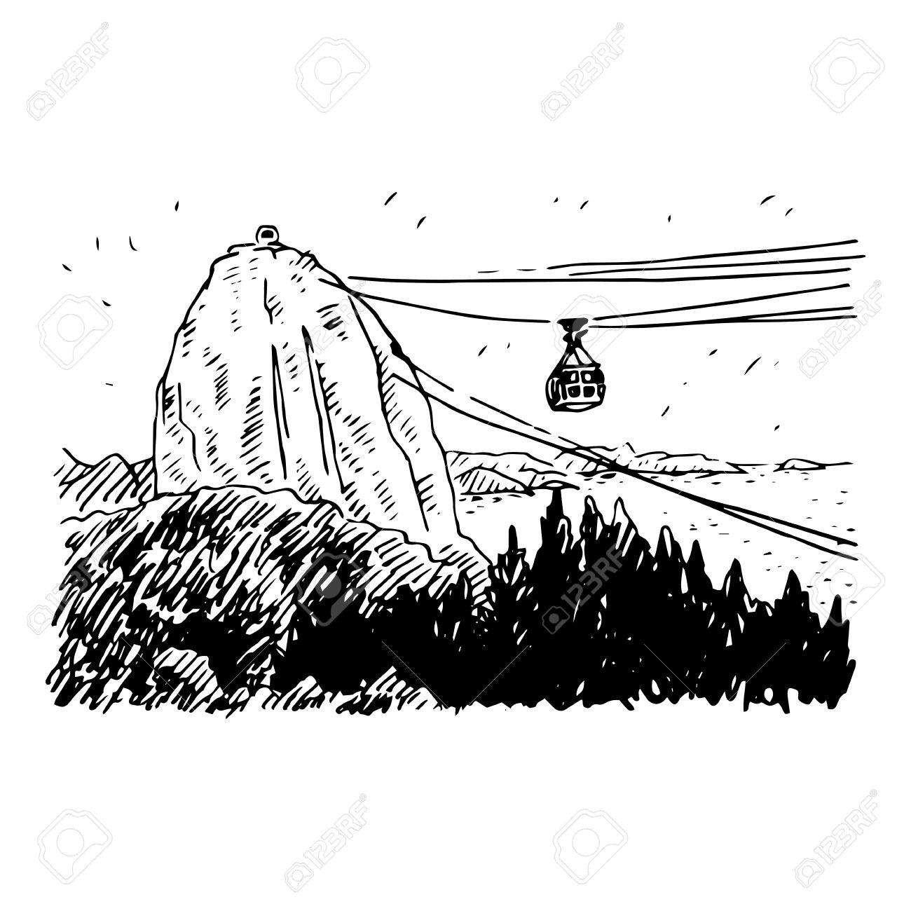 Cable Car Line From Sugarloaf Mountain, Rio De Janeiro, Brazil ...