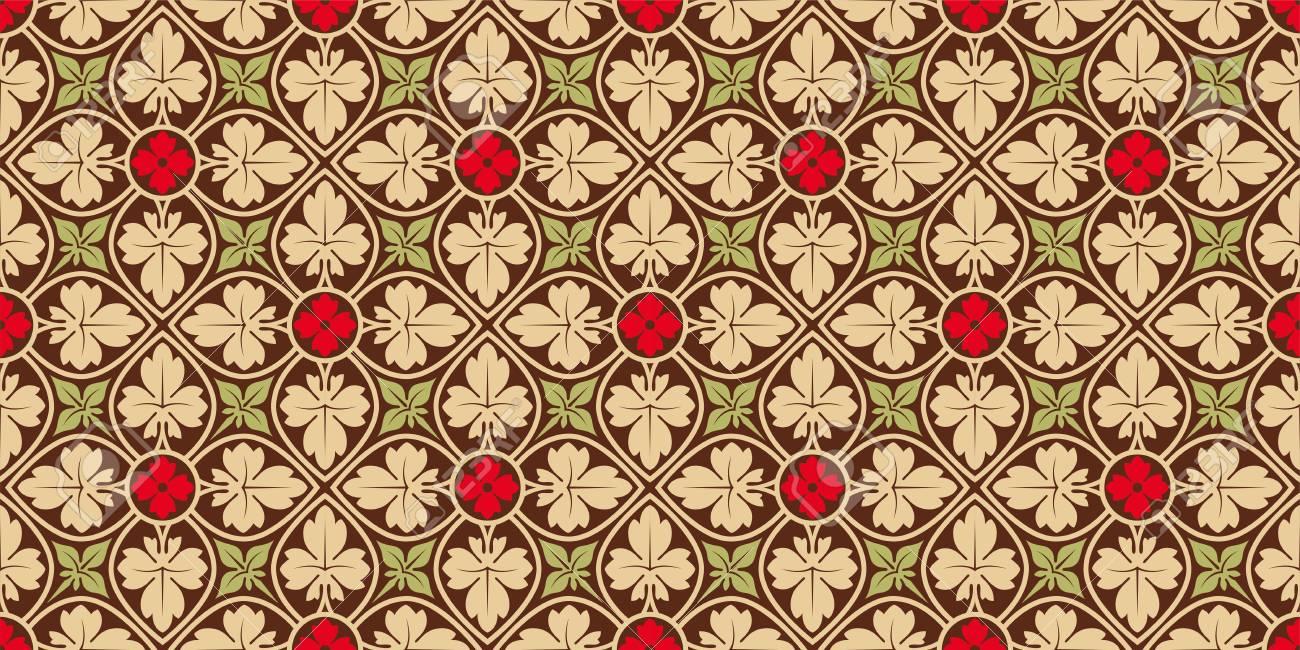 Motif Sans Couture Horizontale Florale Decoration Pour Papier Peint