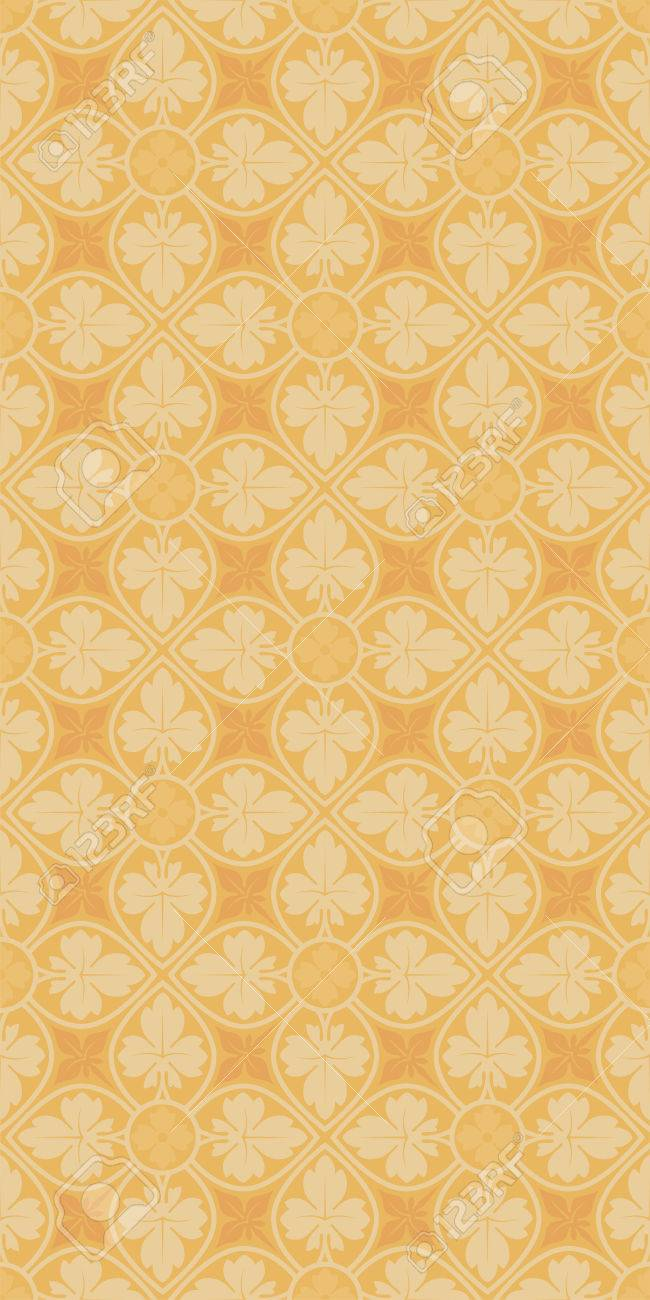 Floral Vertical Seamless Pattern. Decoration For Wallpaper, Fabrics ...