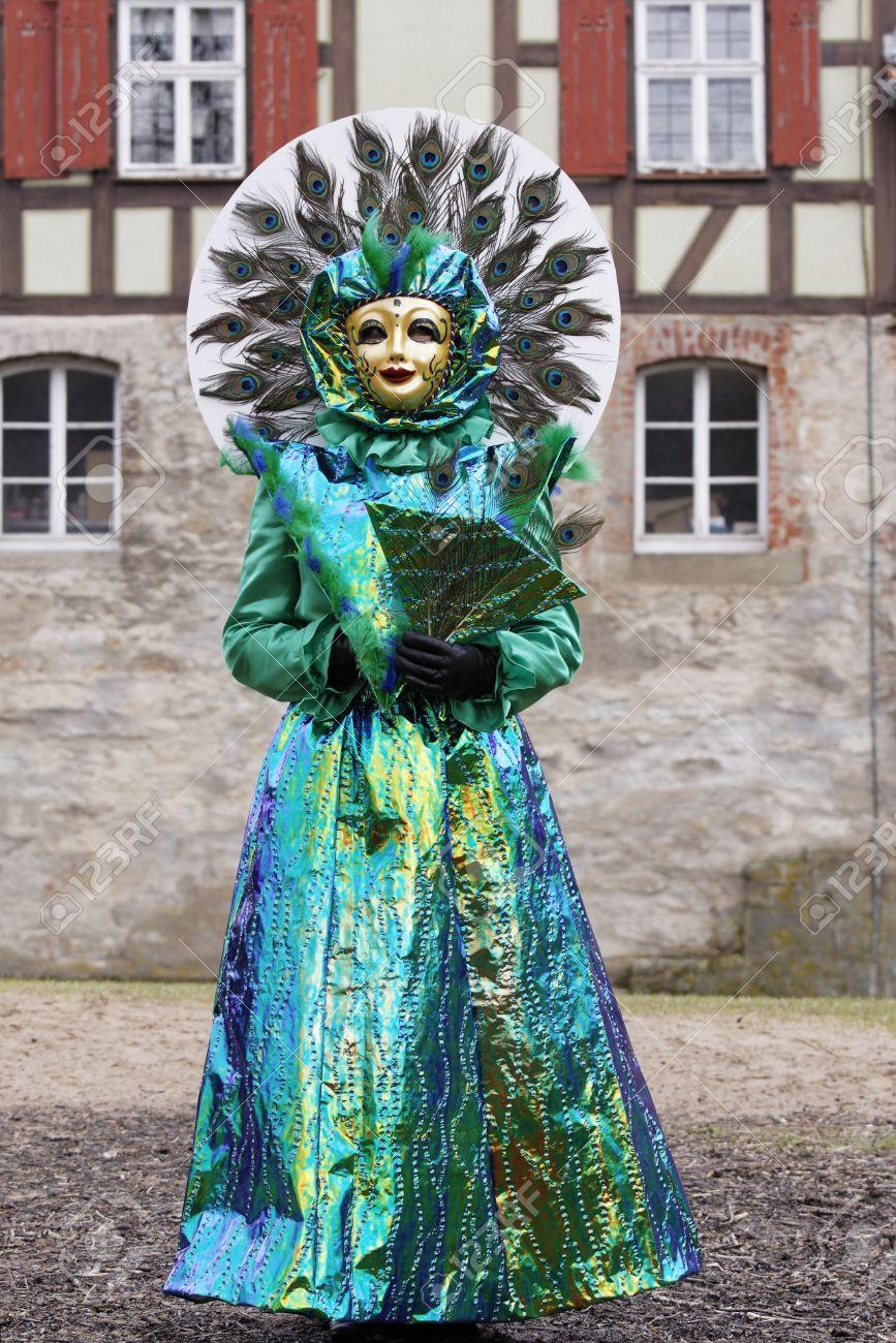 Foto de archivo , Trajes de Carnaval de Venecia