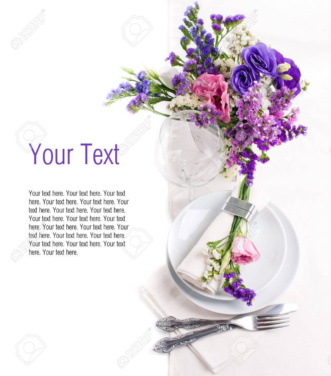 Cadre Et La Decoration De Table De Fete Avec Des Fleurs Fraiches