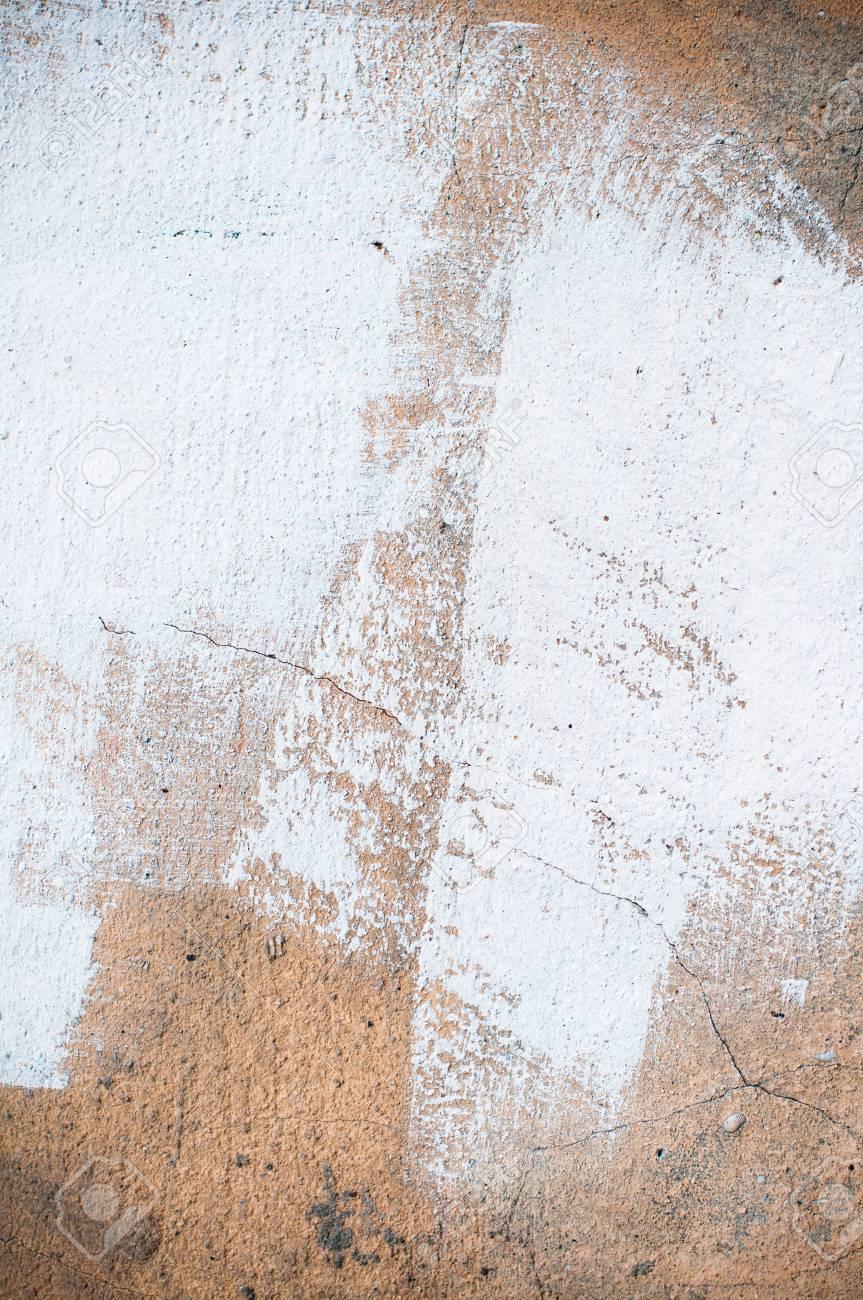 abstrait peint mur de pltre blanc brun texture les traits de peinture et