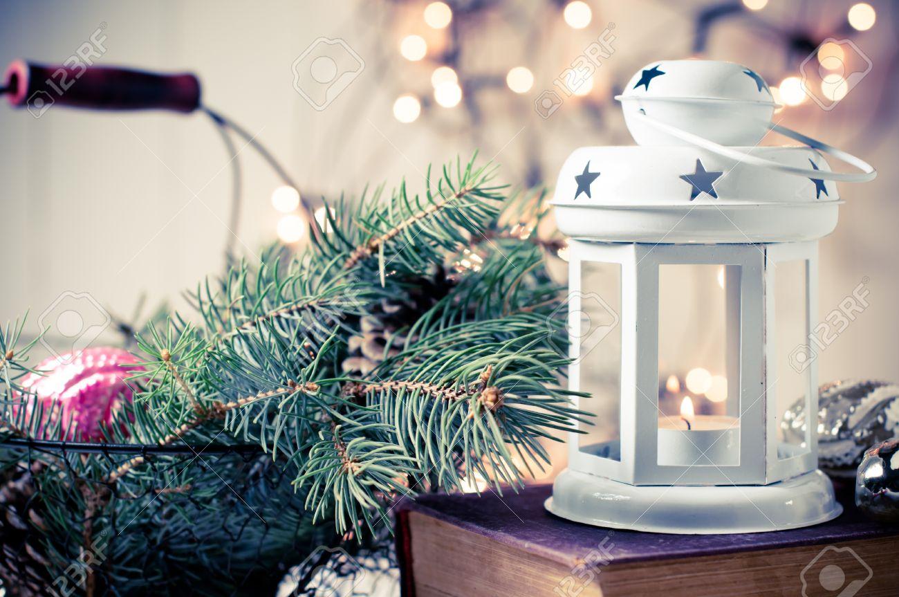 Vintage Christmas Decor, Old Christmas Decorations, Lanterns ...