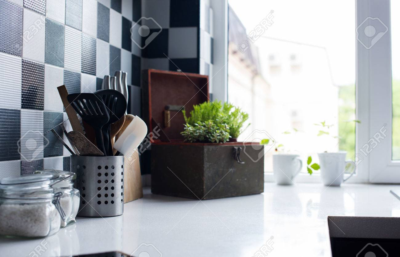 Modern Kitchen Accessories And Decor kitchen utensils, decor and kitchenware in the modern kitchen