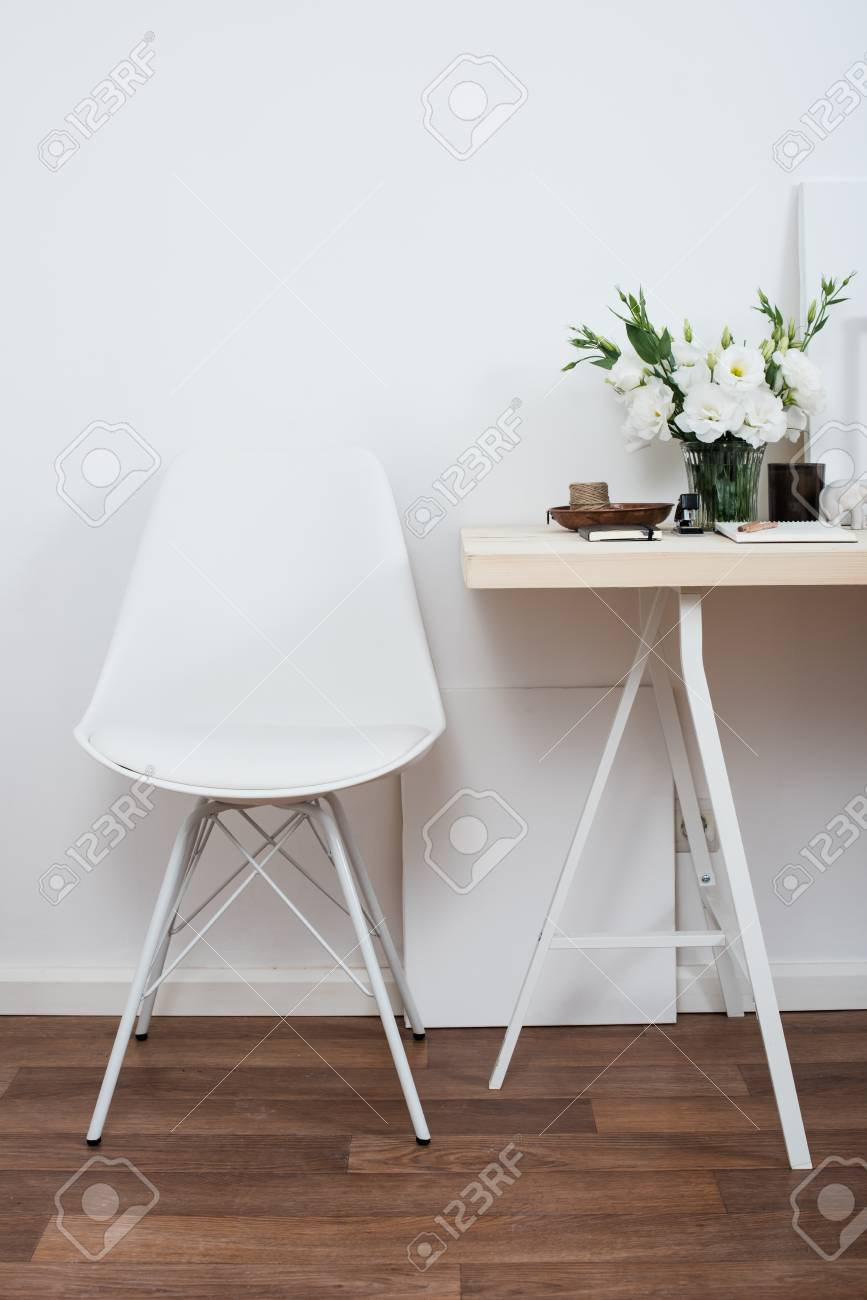 Wondrous Stylish Scandinavian Interior Design White Workspace With Desk Theyellowbook Wood Chair Design Ideas Theyellowbookinfo