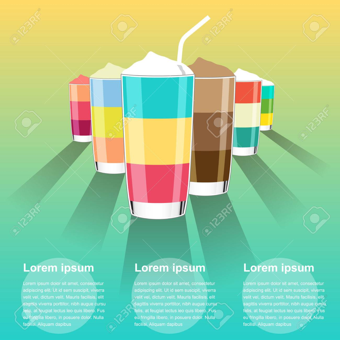 summer drink menu background clear vector illustration royalty free