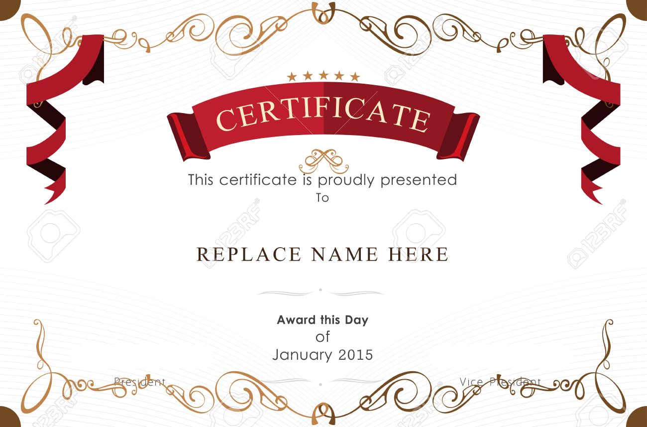 Award Certificate Border Template