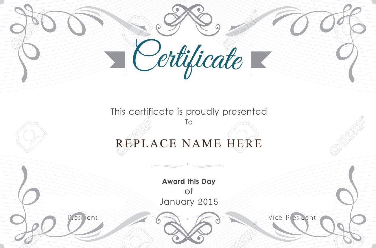 Zertifikat Grenze Zertifikatvorlage. Vektor-Illustration Lizenzfrei ...