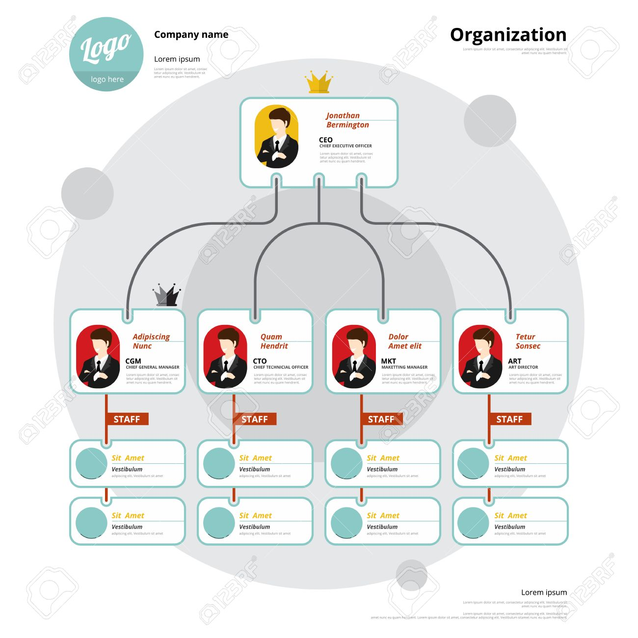 Organization chart corporate structure flow of organizational organization chart corporate structure flow of organizational stock vector 39250603 nvjuhfo Choice Image