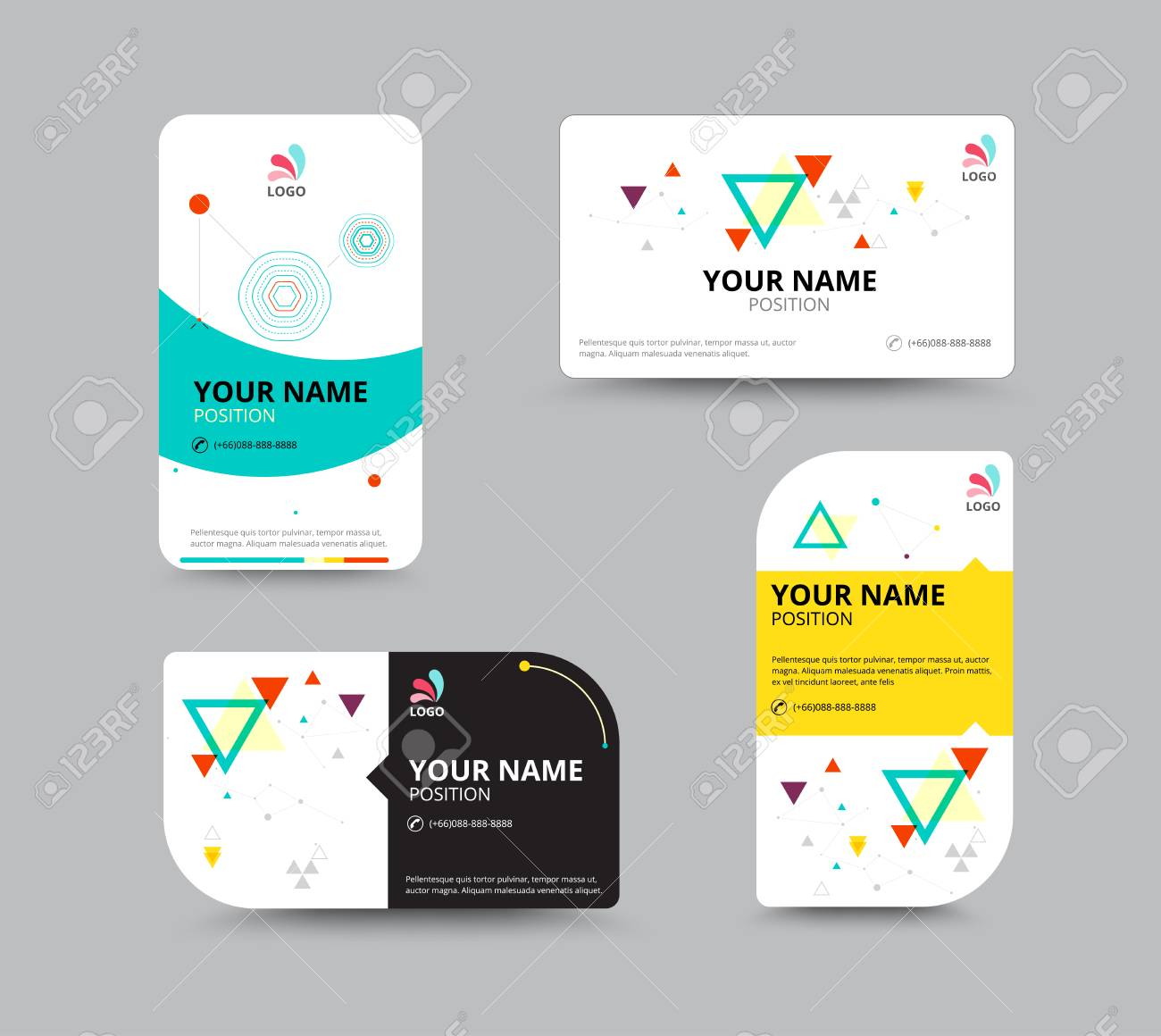 Business Card Template, Business Card Layout Design, Vector ...
