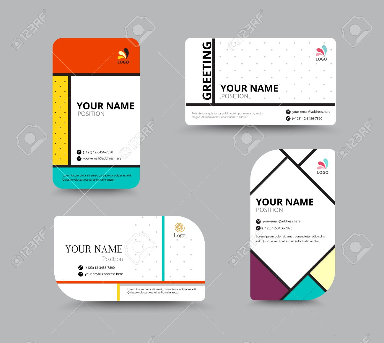 Business Card Template Name Card Design For Business Include - Sample name tag templates