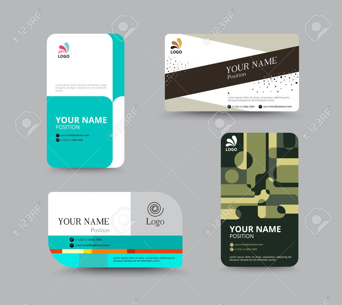 Business card template business card layout design vector business card template business card layout design vector illustration stock vector 41842395 accmission Choice Image