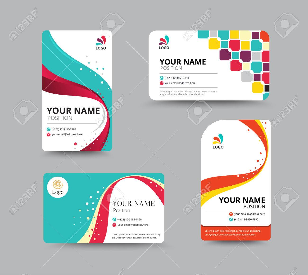 Business card template design with floral concept vector banco de imagens business card template design with floral concept vector illustration reheart Image collections