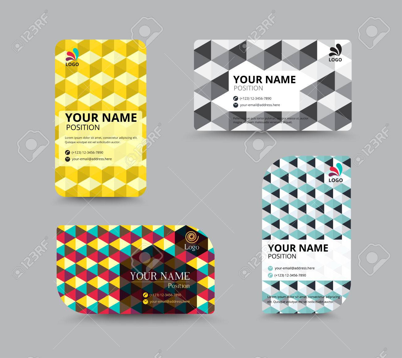Business Name Card Template. Vector Illustration Royalty Free ...