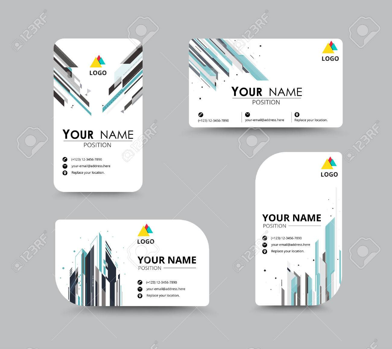 Business greeting card template design introduce card include business greeting card template design introduce card include sample text position vector illustration design m4hsunfo Images