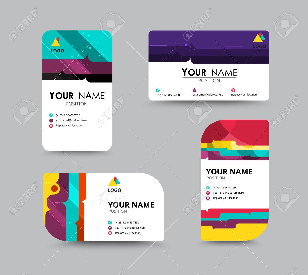 contact cards template