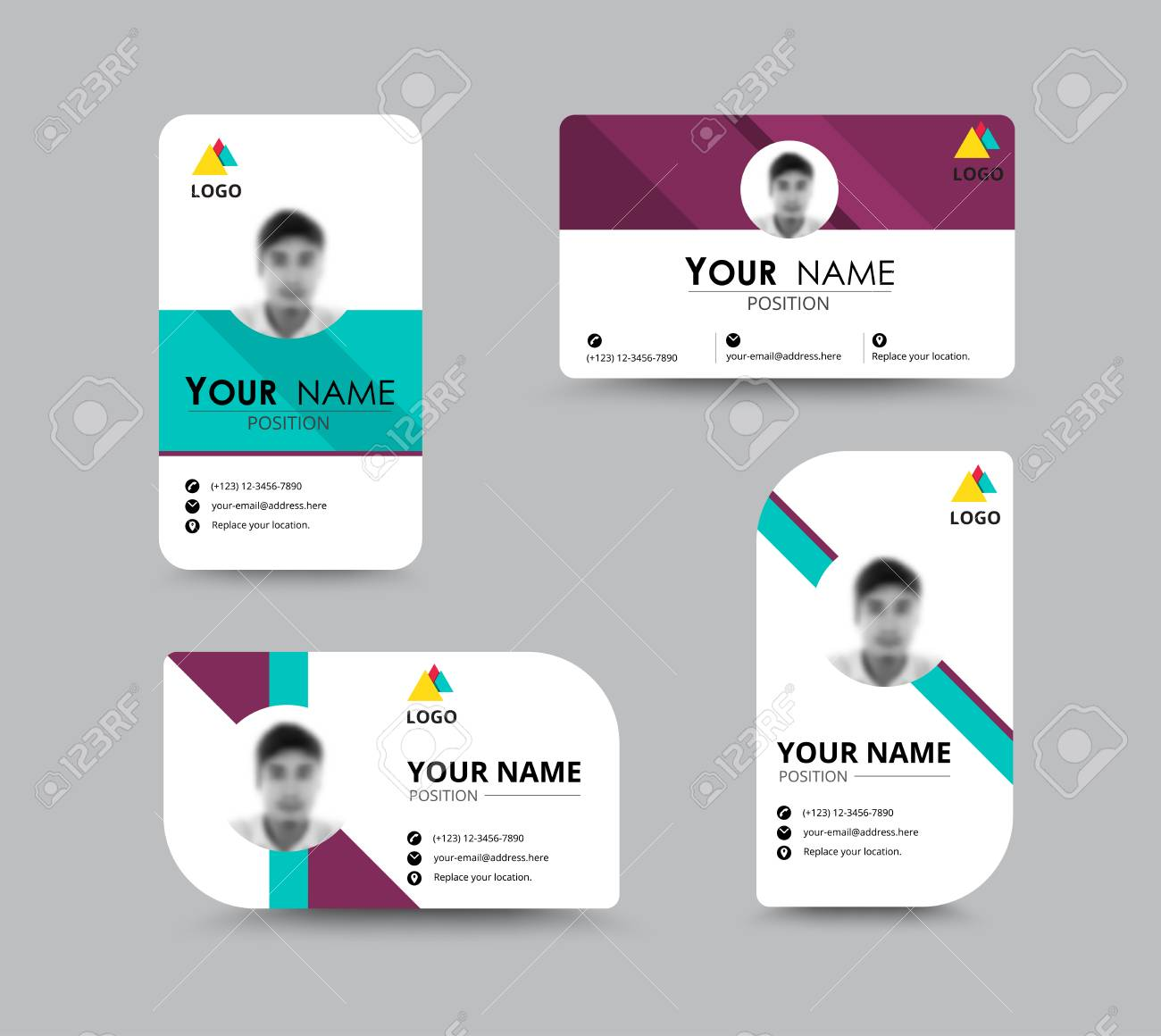 Business greeting card template design introduce card include banco de imagens business greeting card template design introduce card include sample text position vector illustration design reheart Choice Image