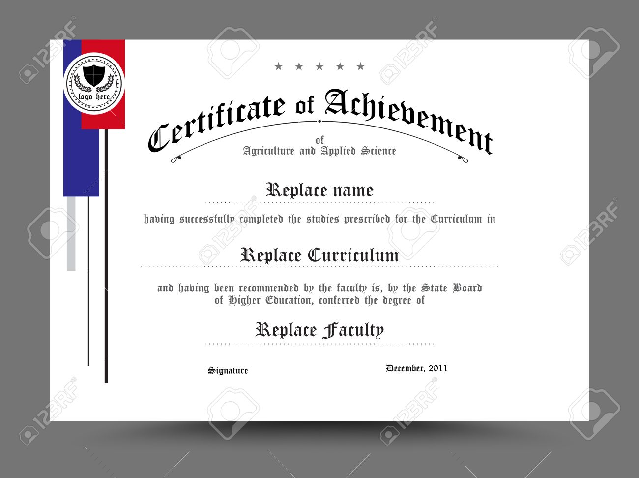 diploma certificate template design vector illustration royalty