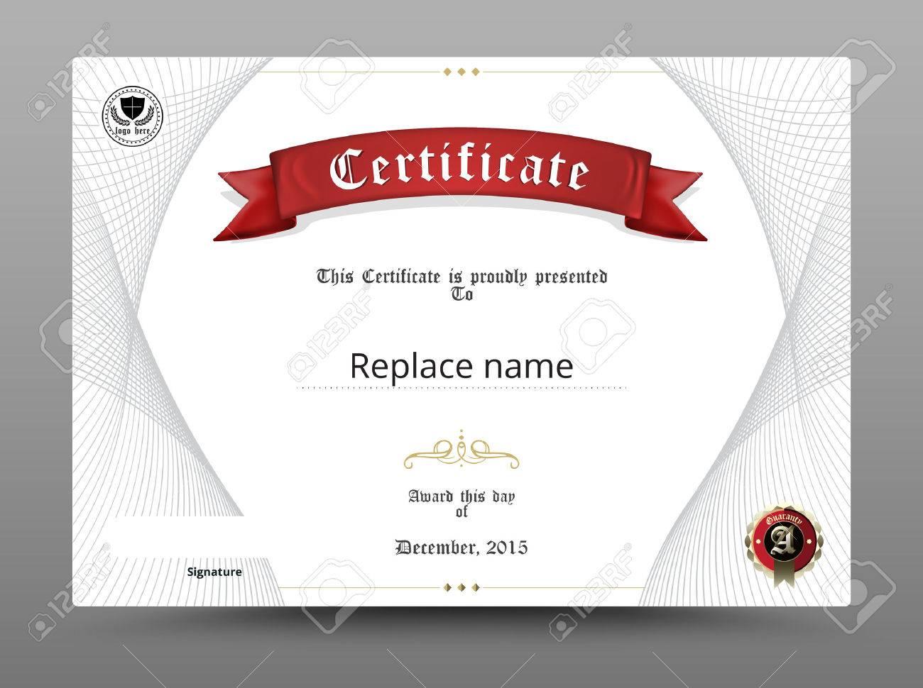 Certificate Diploma Border, Certificate Template. Vector ...