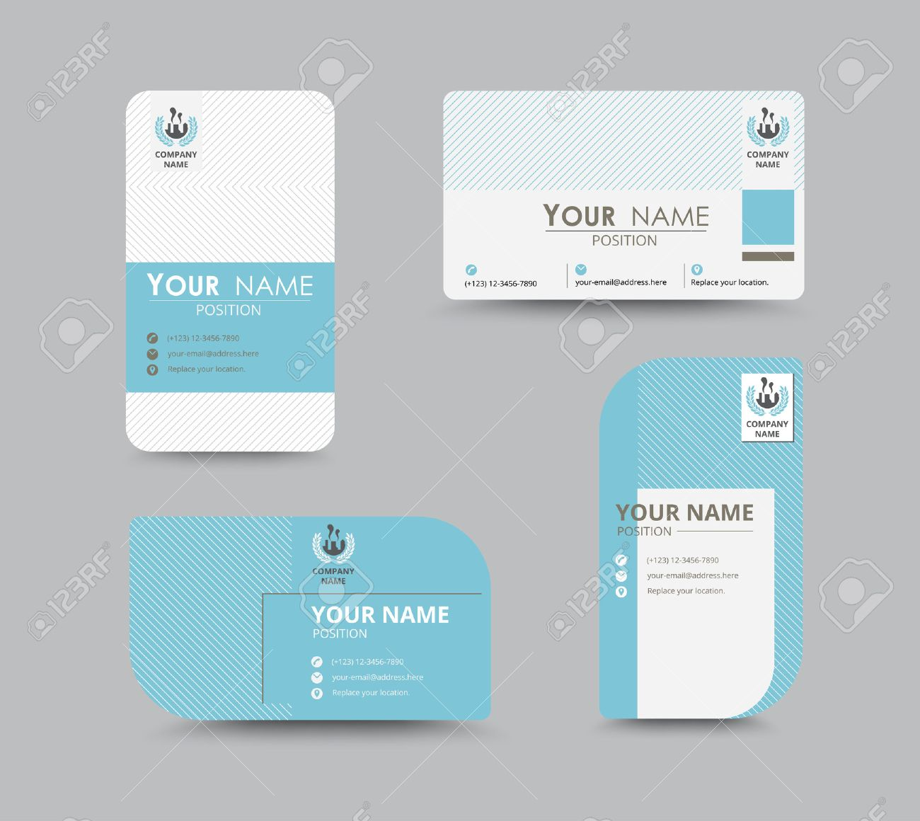Business Greeting Card Template Design. Introduce Card Include ...